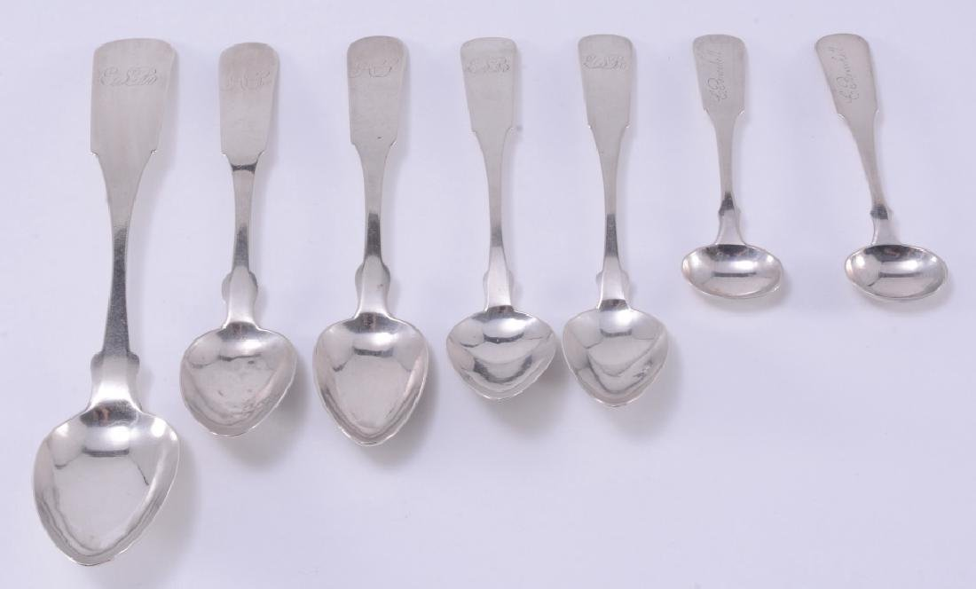 Seven J. Abbot Coin Silver Spoons
