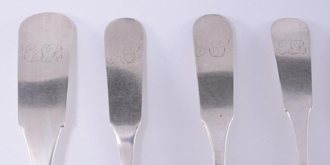 Seven J. Abbot Coin Silver Spoons - 2
