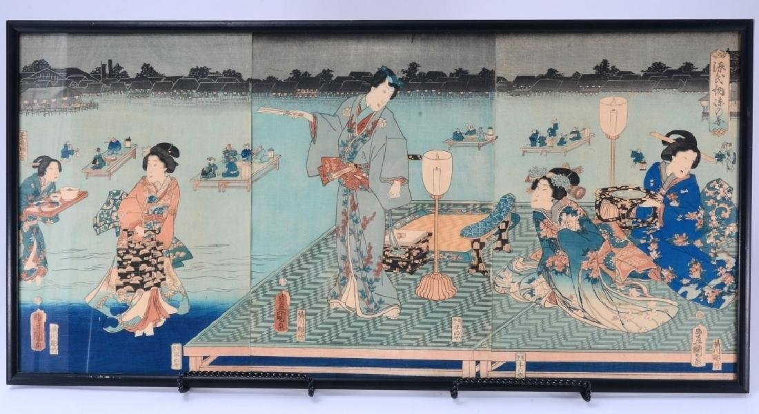 Japanese Wood Block Triptych