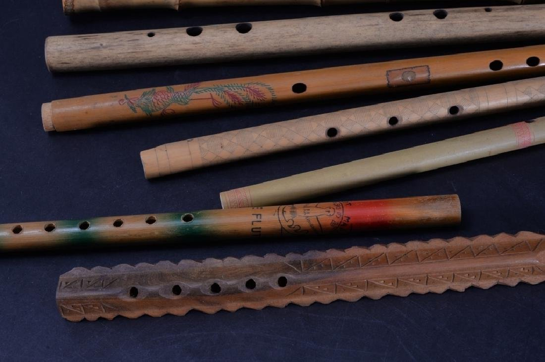 7 Carved & Handpainted Woodwind Instruments - 2