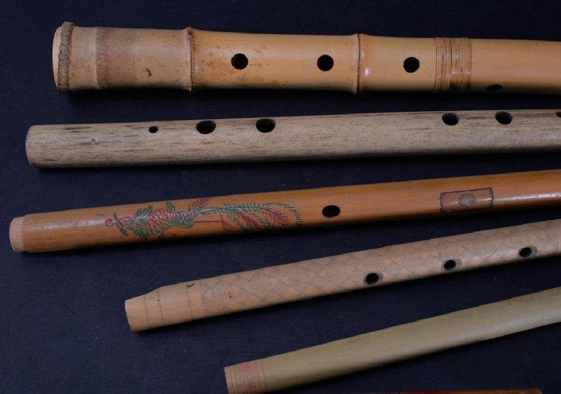 7 Carved & Handpainted Woodwind Instruments - 3