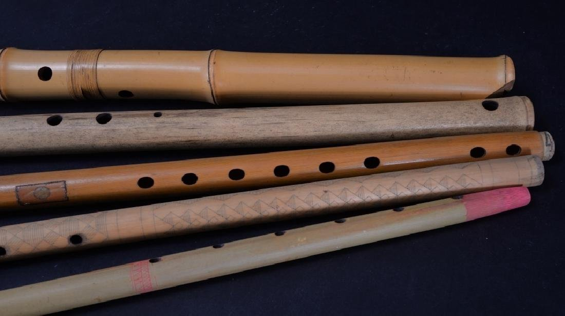 7 Carved & Handpainted Woodwind Instruments - 4
