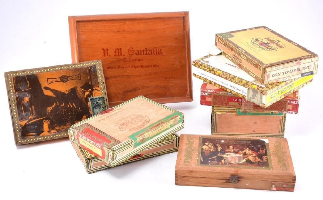 9 Cigar Boxes