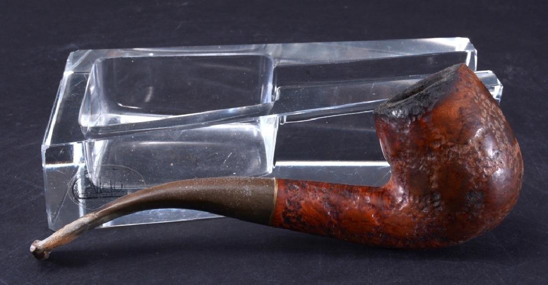 Savinelli Alligator Pipe & Aldon Glass Pipe Rest