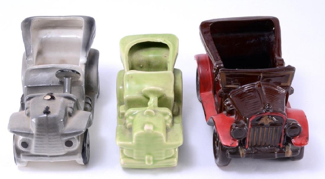 3 Vintage Cars Ceramic Planters - 3