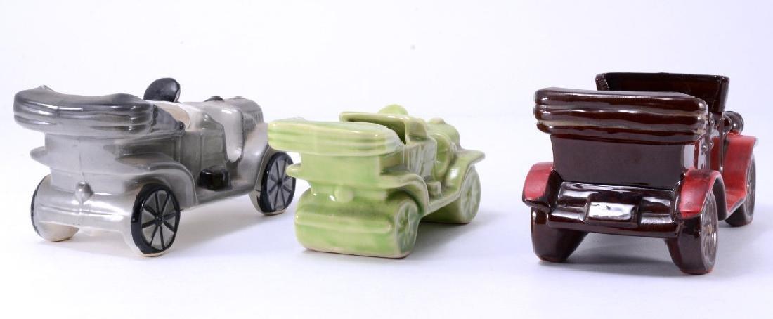 3 Vintage Cars Ceramic Planters - 4