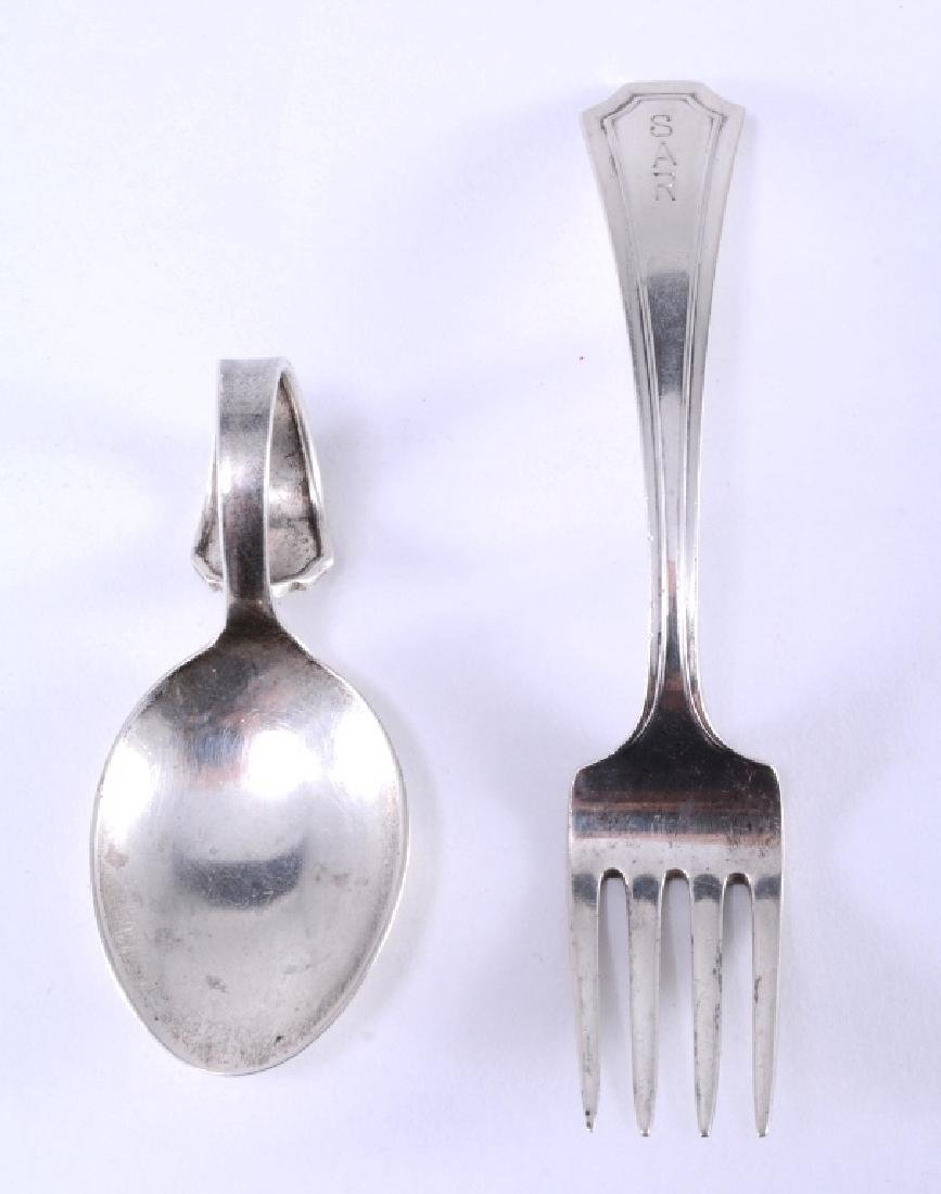 Sterling Child's Fork & Baby Spoon