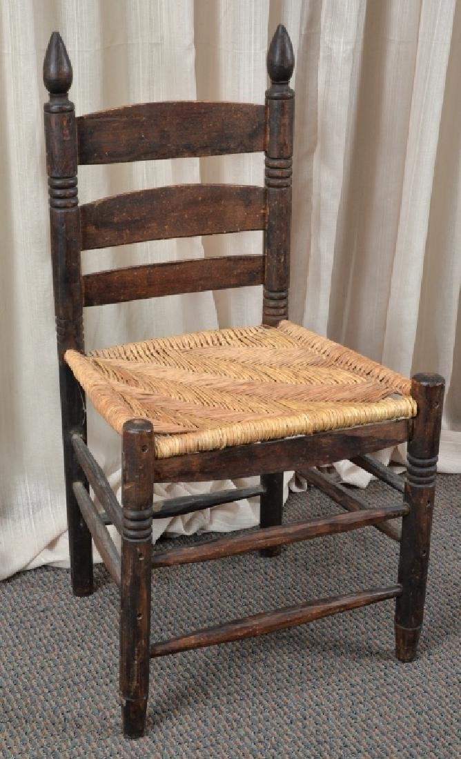 Handmade Rush Seat Slat Back Chair