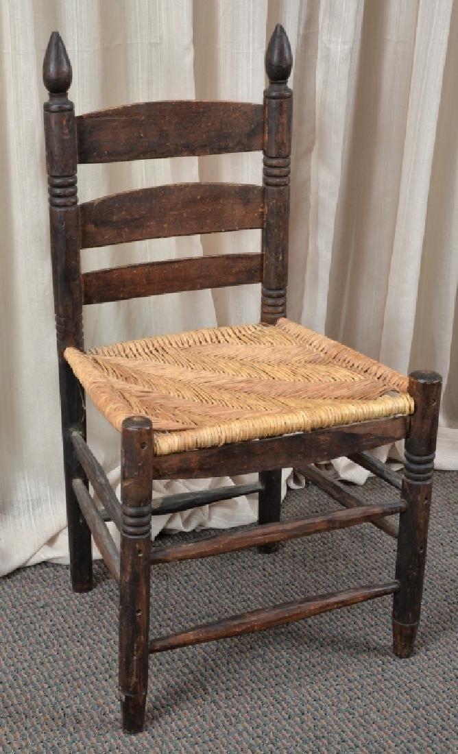 Handmade Rush Seat Slat Back Chair