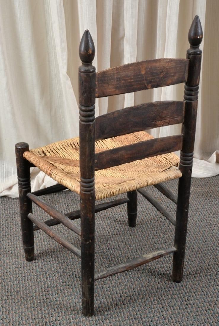 Handmade Rush Seat Slat Back Chair - 2