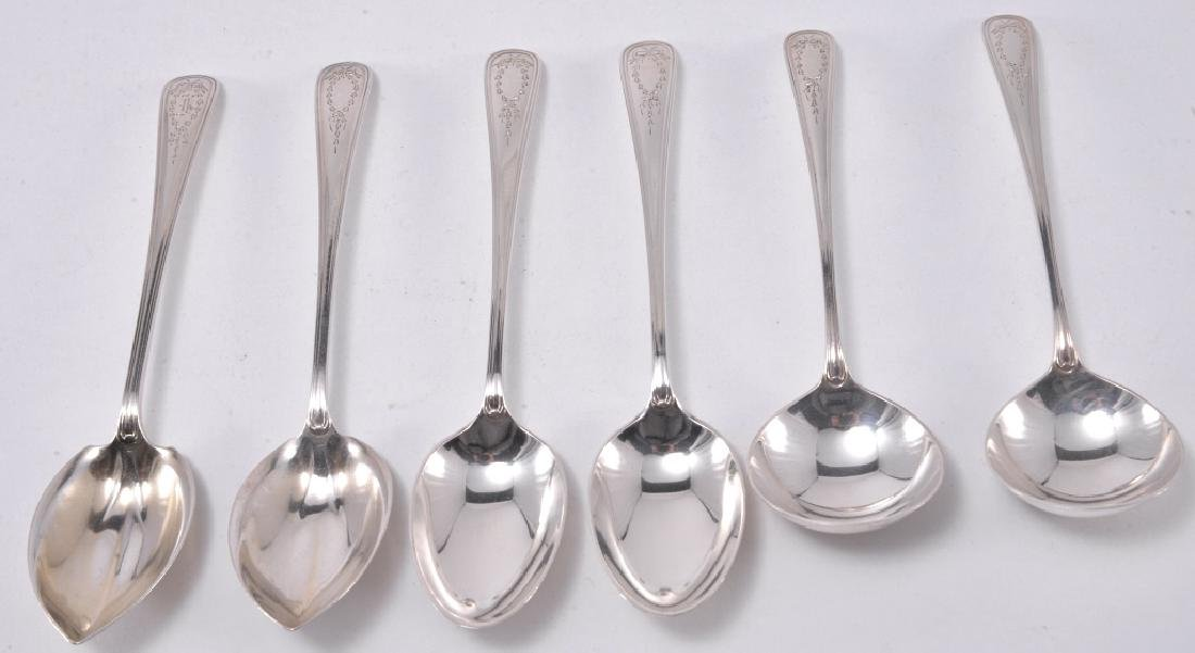 "6 Gorham ""Jefferson"" Sterling Spoons"