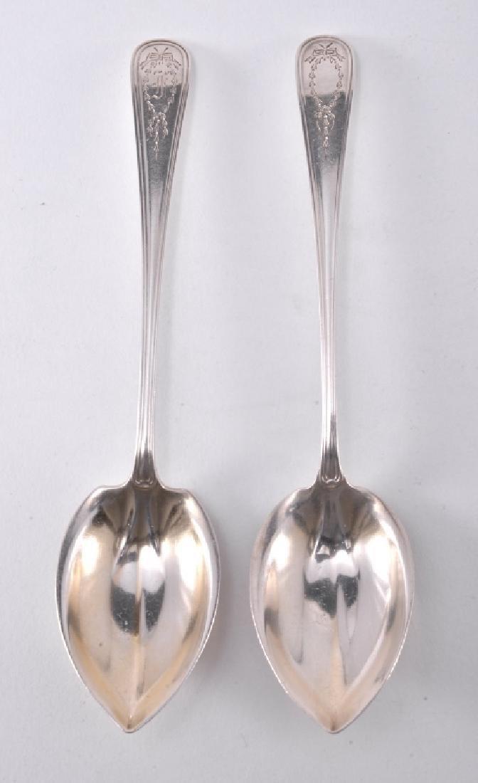 "6 Gorham ""Jefferson"" Sterling Spoons - 2"