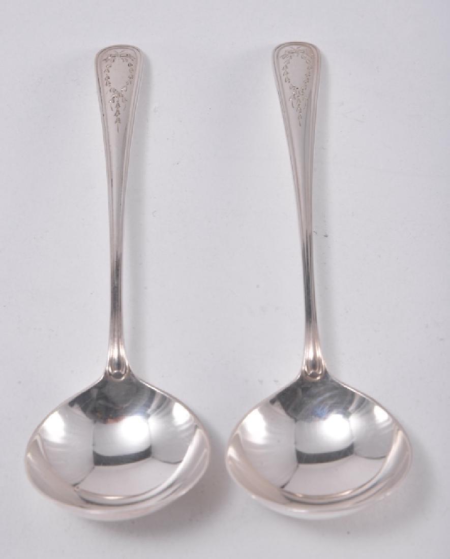 "6 Gorham ""Jefferson"" Sterling Spoons - 4"