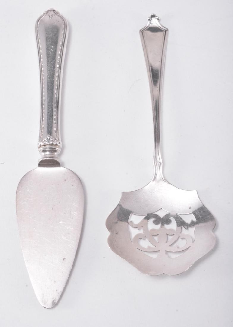 Sterling Tongs, Cheese Knife, Ladle & Jelly Server - 2