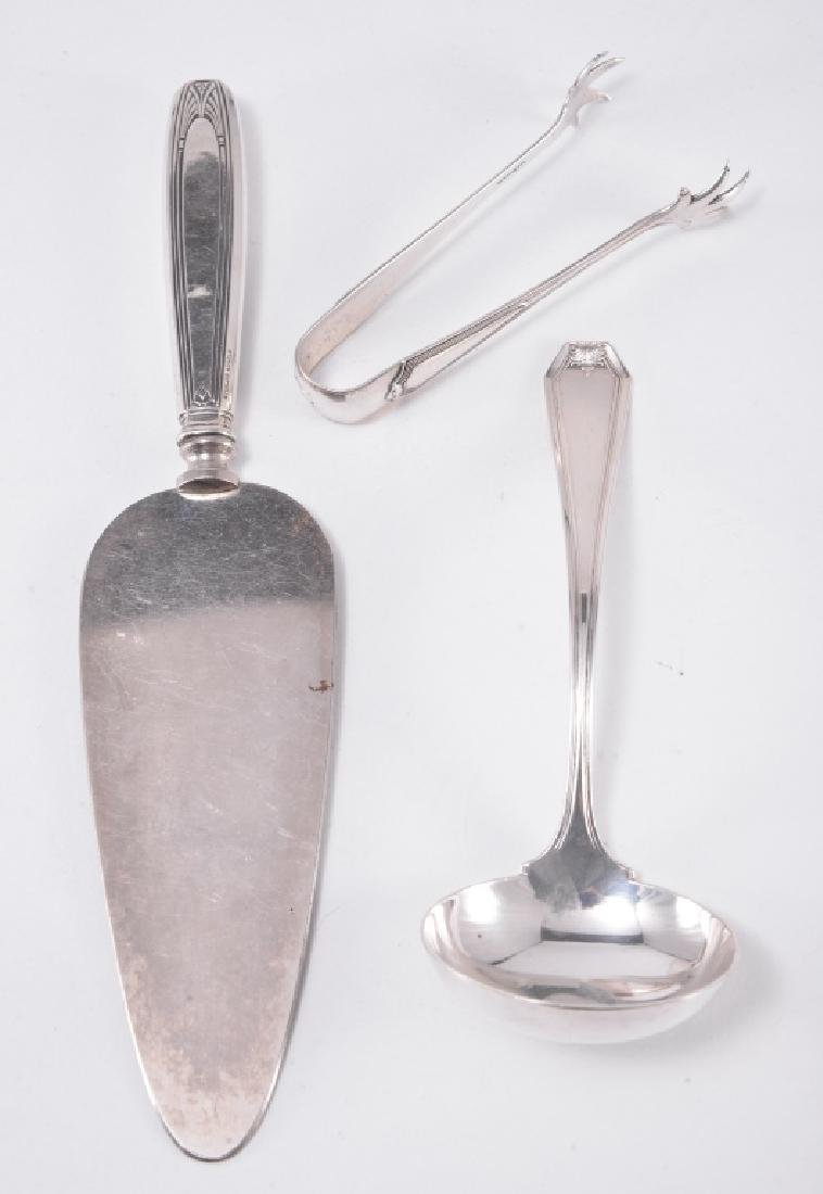 Sterling Tongs, Cheese Knife, Ladle & Jelly Server - 3