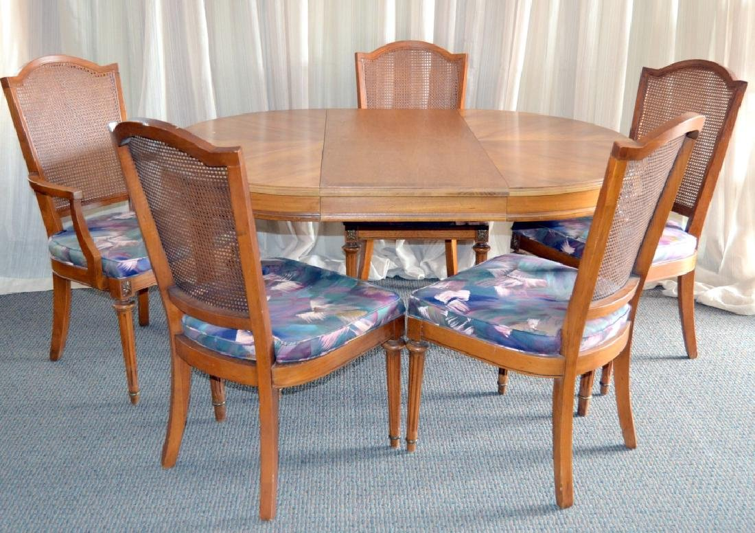 Oval Dining Table & 5 Chairs