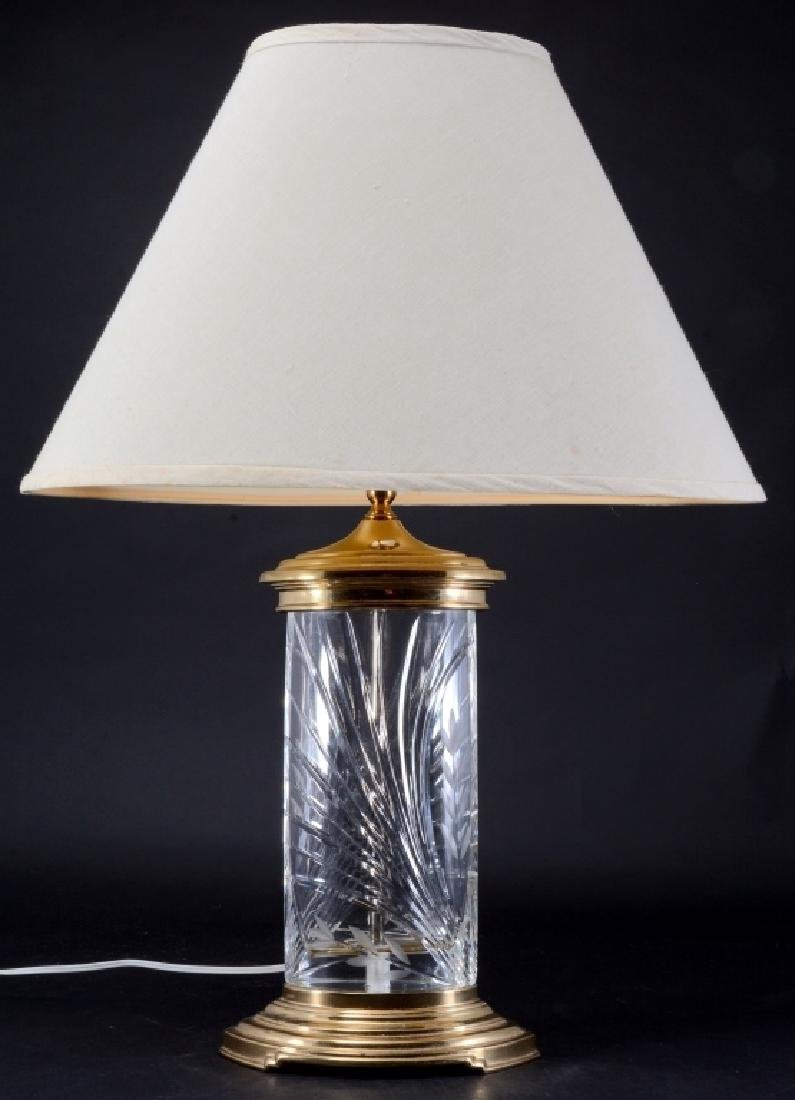 Cut Glass & Brass Lamp
