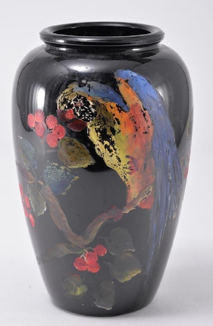 Hand Painted Amethyst Glass Vase