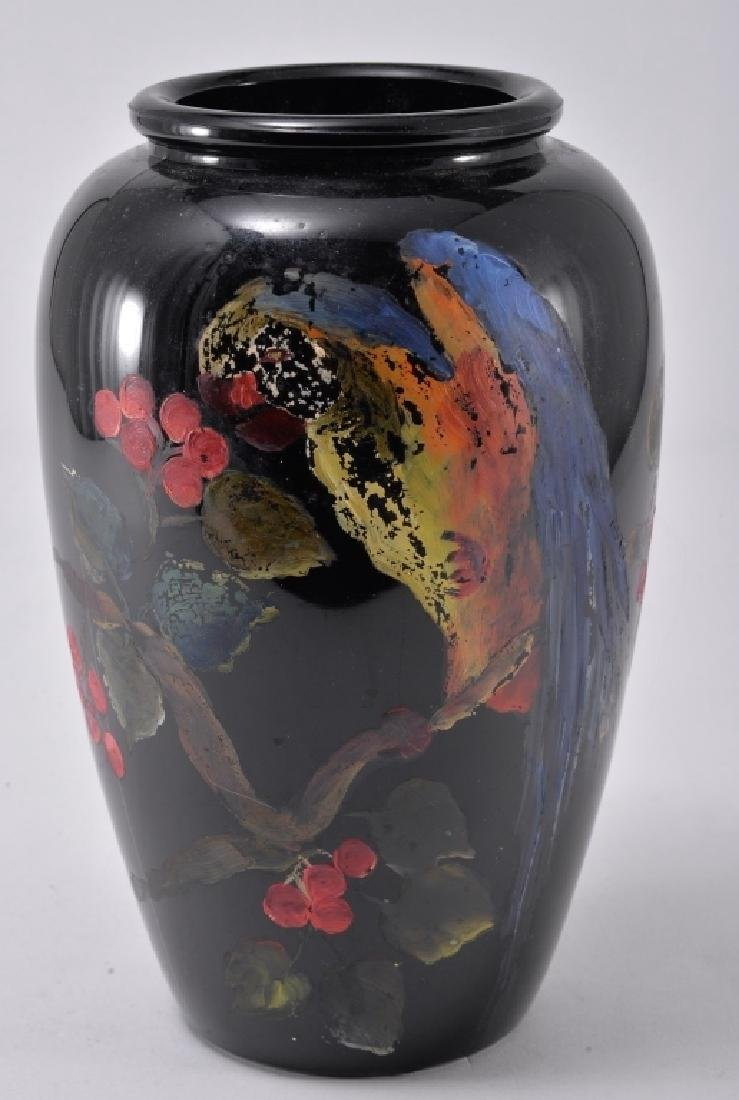 Hand Painted Amethyst Glass Vase - 2