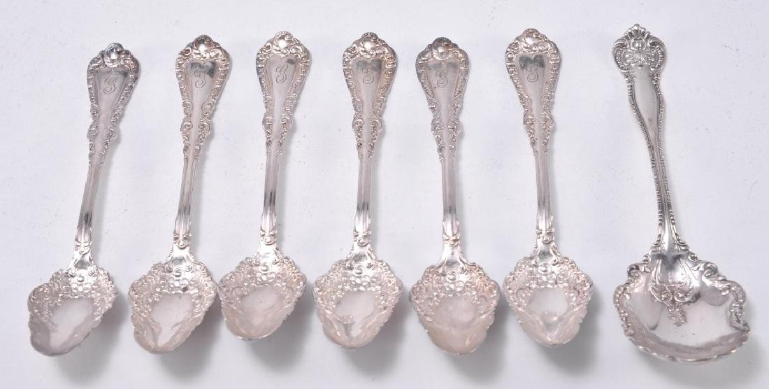 7 Pcs. Silverplate Including Sugar & Fruit Spoons