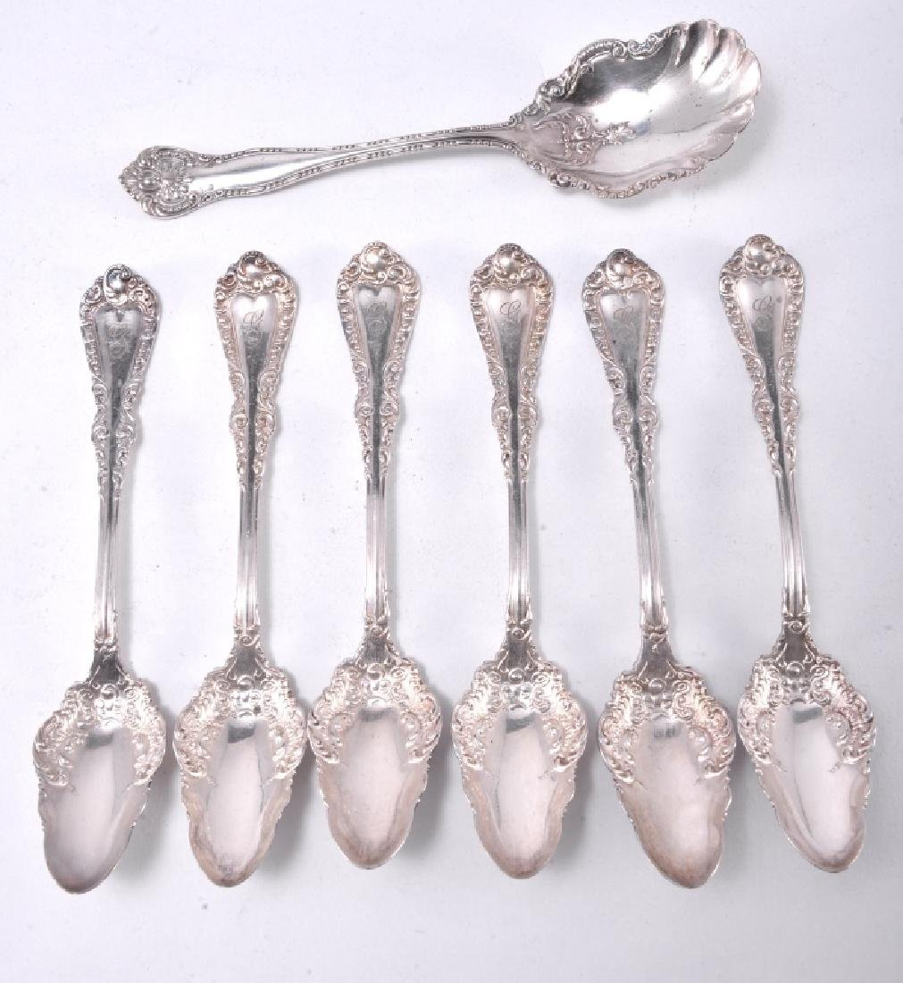 7 Pcs. Silverplate Including Sugar & Fruit Spoons - 2
