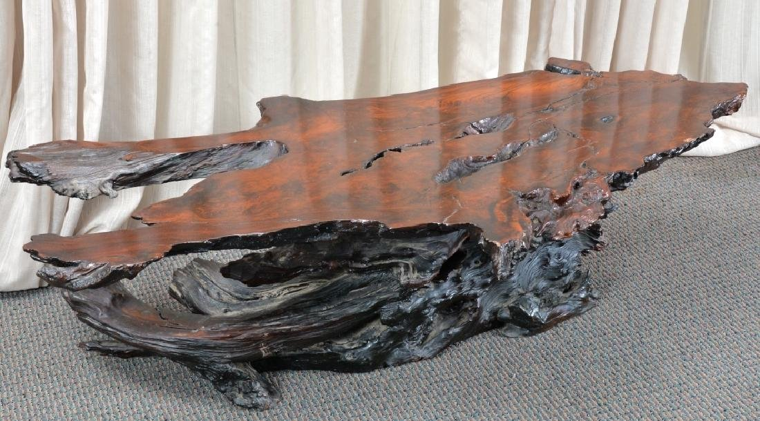 Redwood Tree Free Form Coffee Table - 4