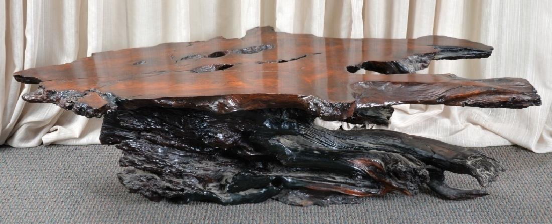 Redwood Tree Free Form Coffee Table - 6