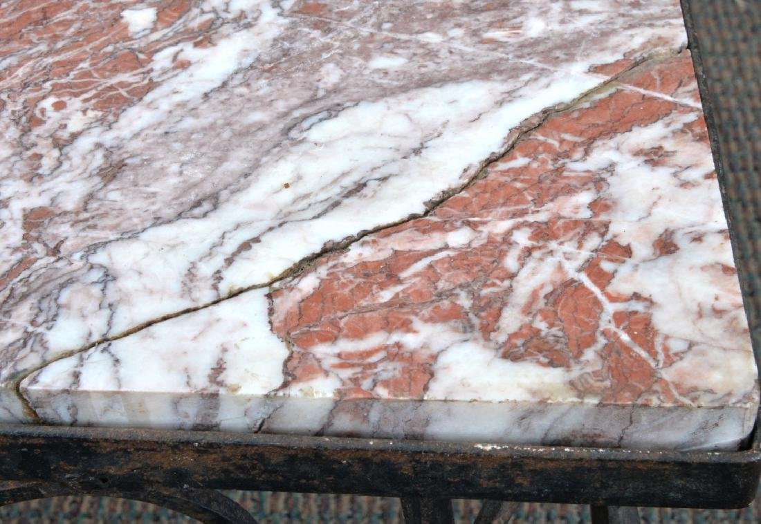 Marble & Wrought Rectangular Table - 3
