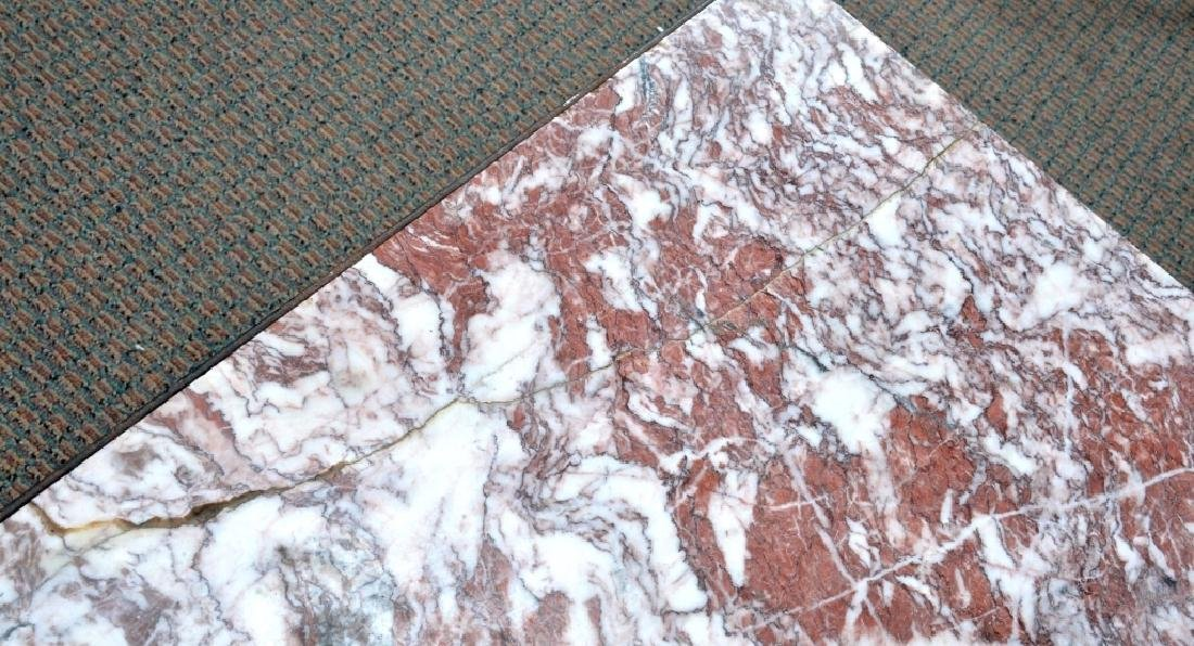 Marble & Wrought Rectangular Table - 4