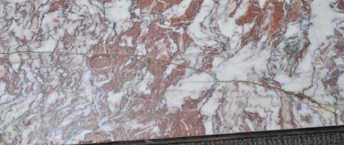 Marble & Wrought Rectangular Table - 5