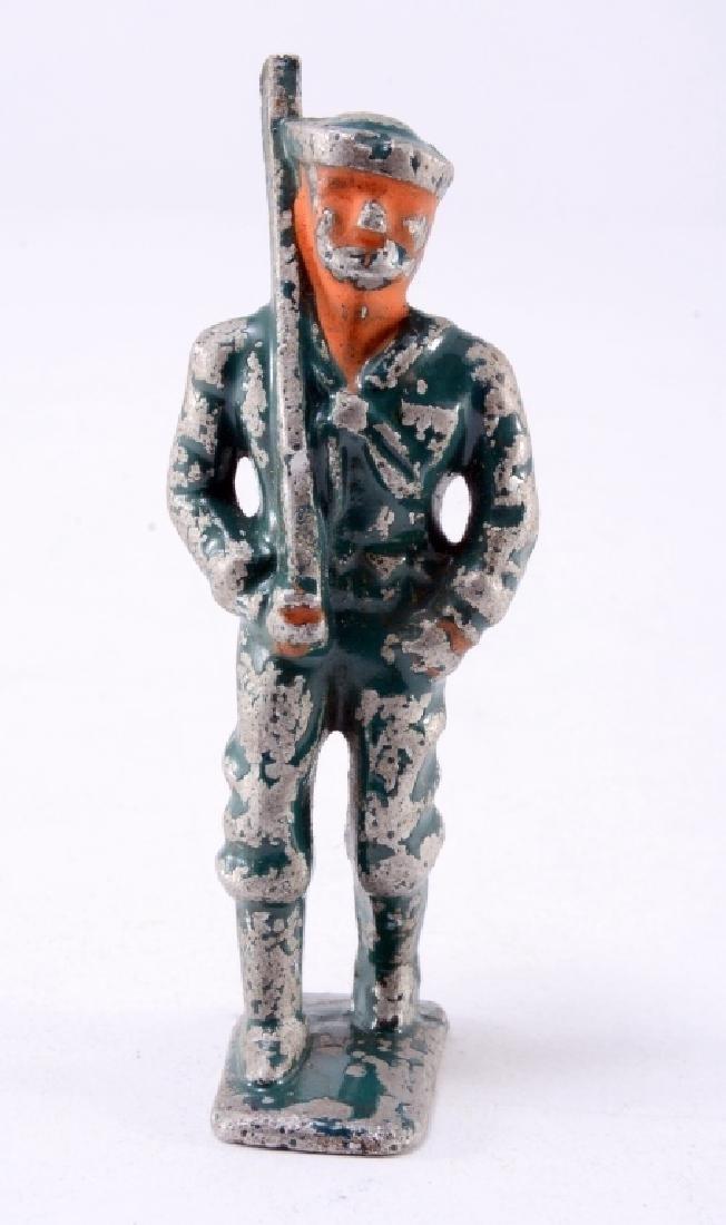 Metal Toy Soldier w/Original Paint