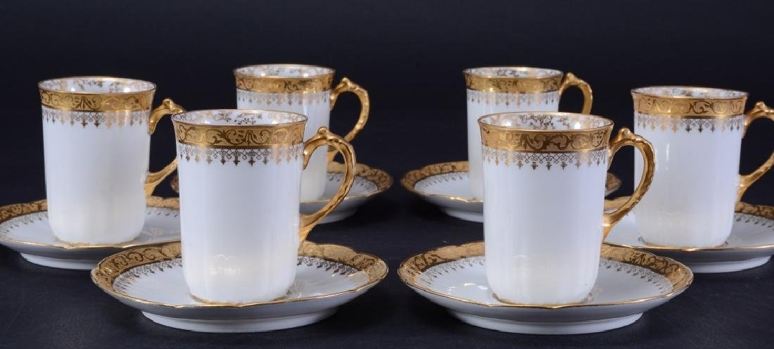 """Limoges """"W.G. & Co,"""" Demitasse Cups & Saucers"""