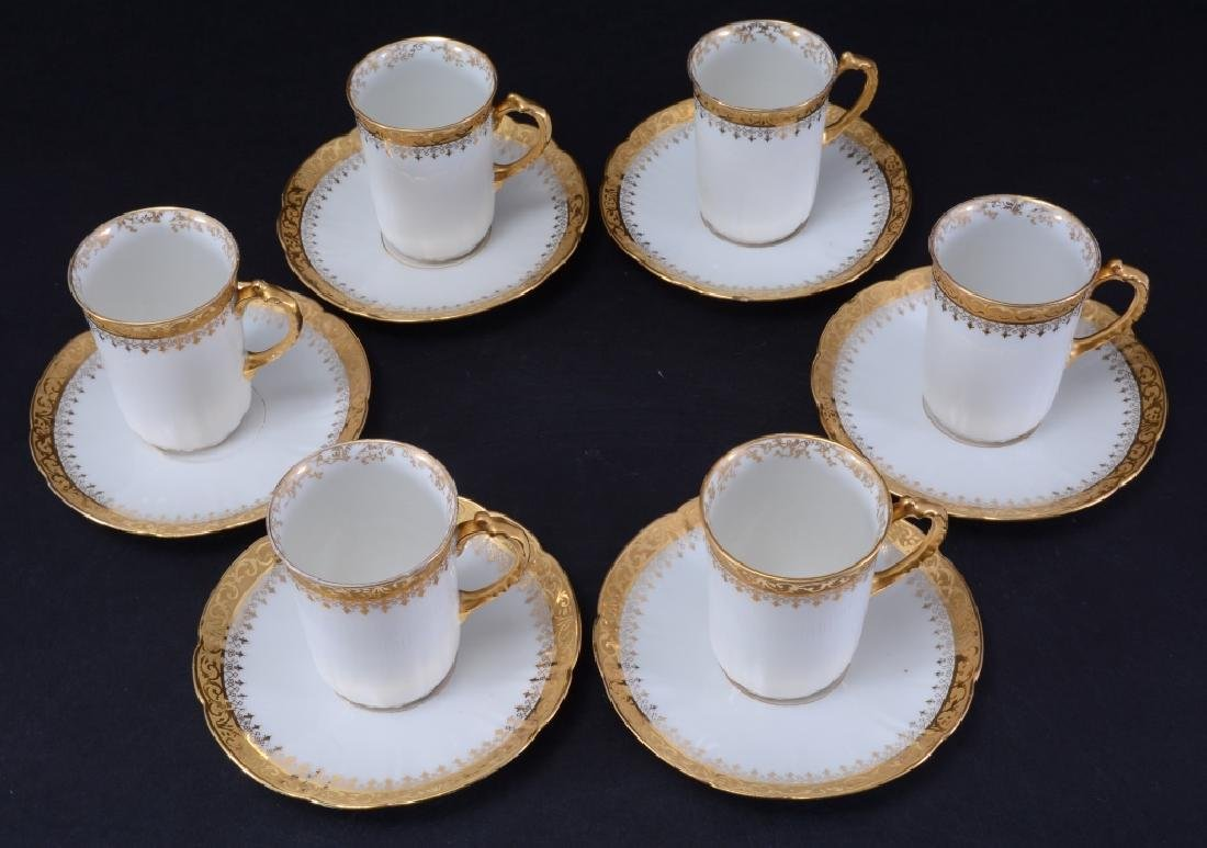 "Limoges ""W.G. & Co,"" Demitasse Cups & Saucers - 4"