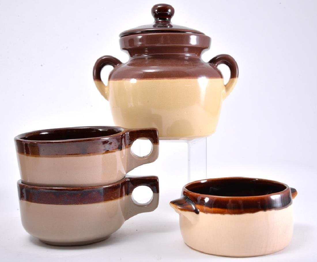 Brown & White Pitcher, Bean Pot & More - 2