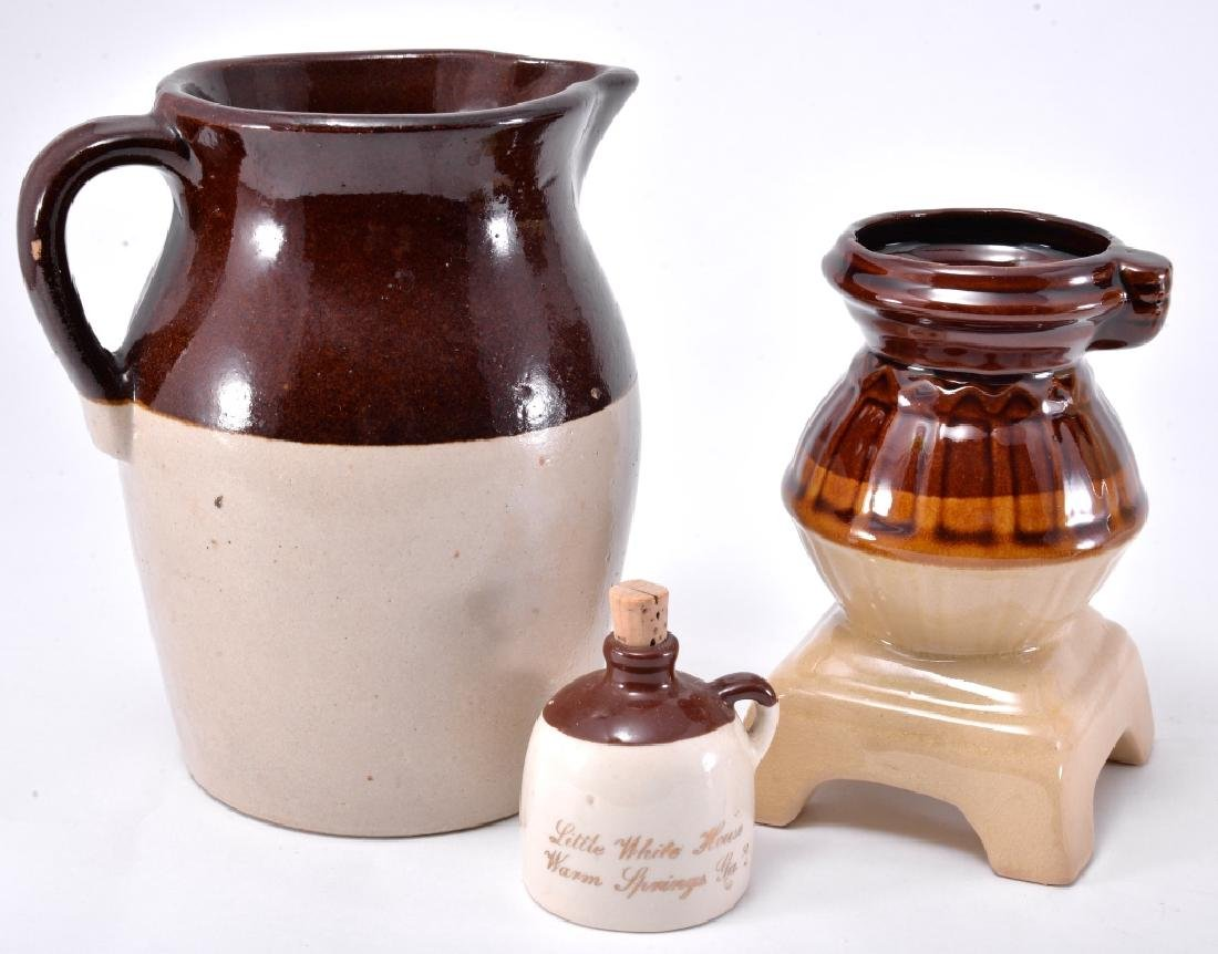 Brown & White Pitcher, Bean Pot & More - 3