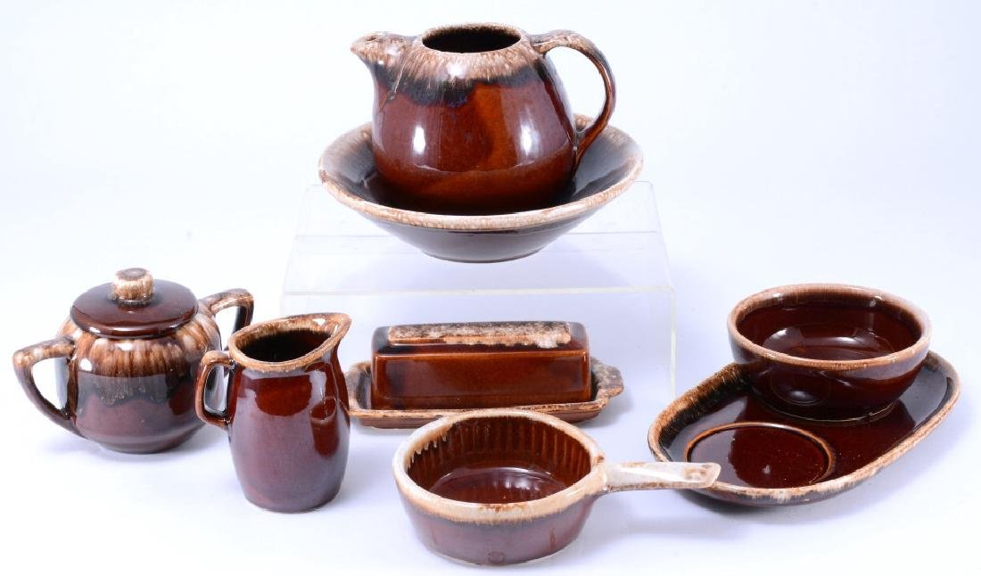 Hull Brown Drip Pitcher, Butter Dish & More