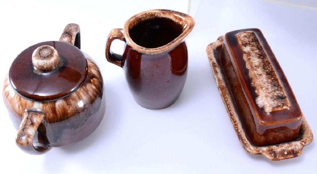 Hull Brown Drip Pitcher, Butter Dish & More - 3