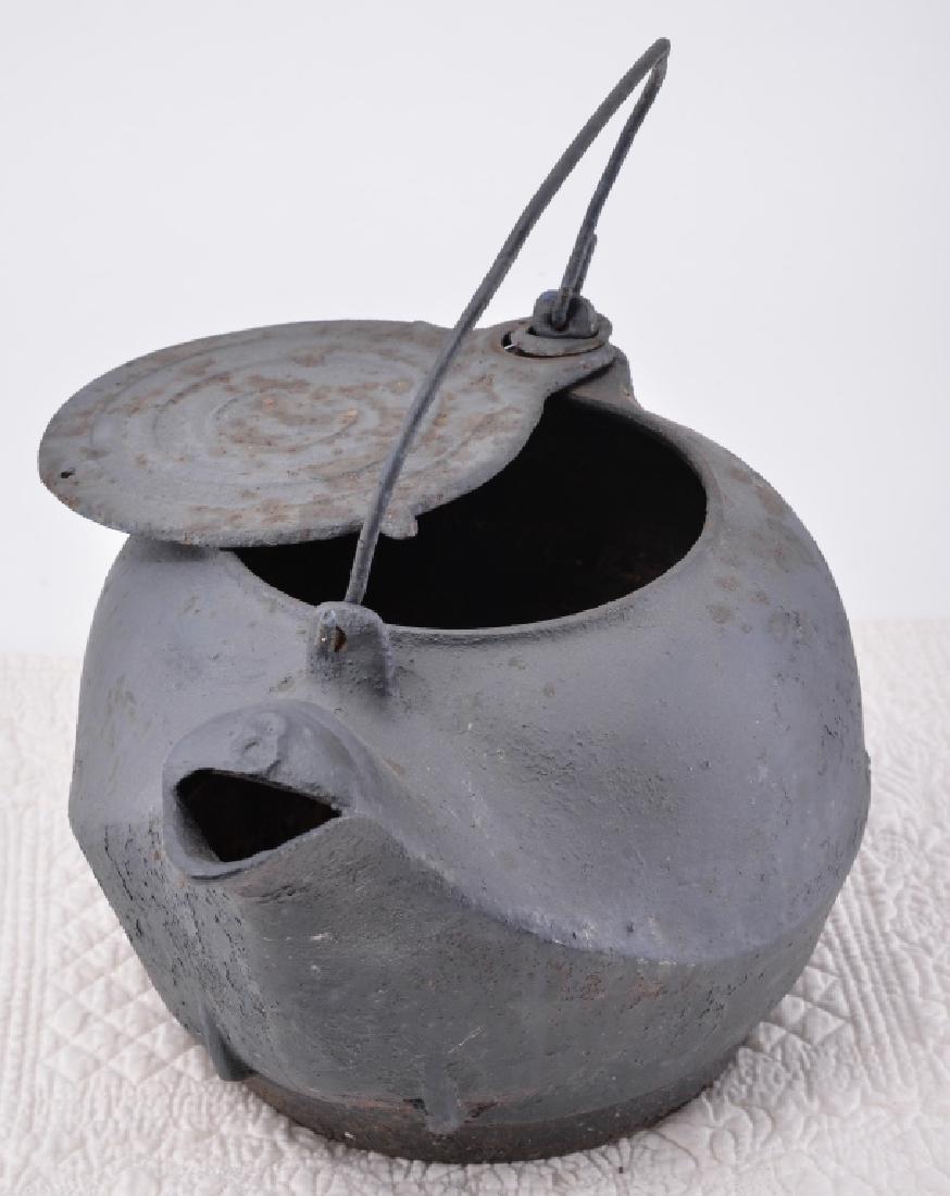 Vintage Cast Iron Kettle - 2