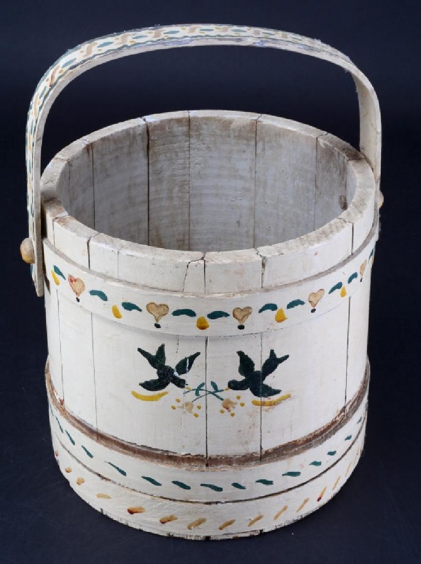 Vintage Wood Bucket - 2