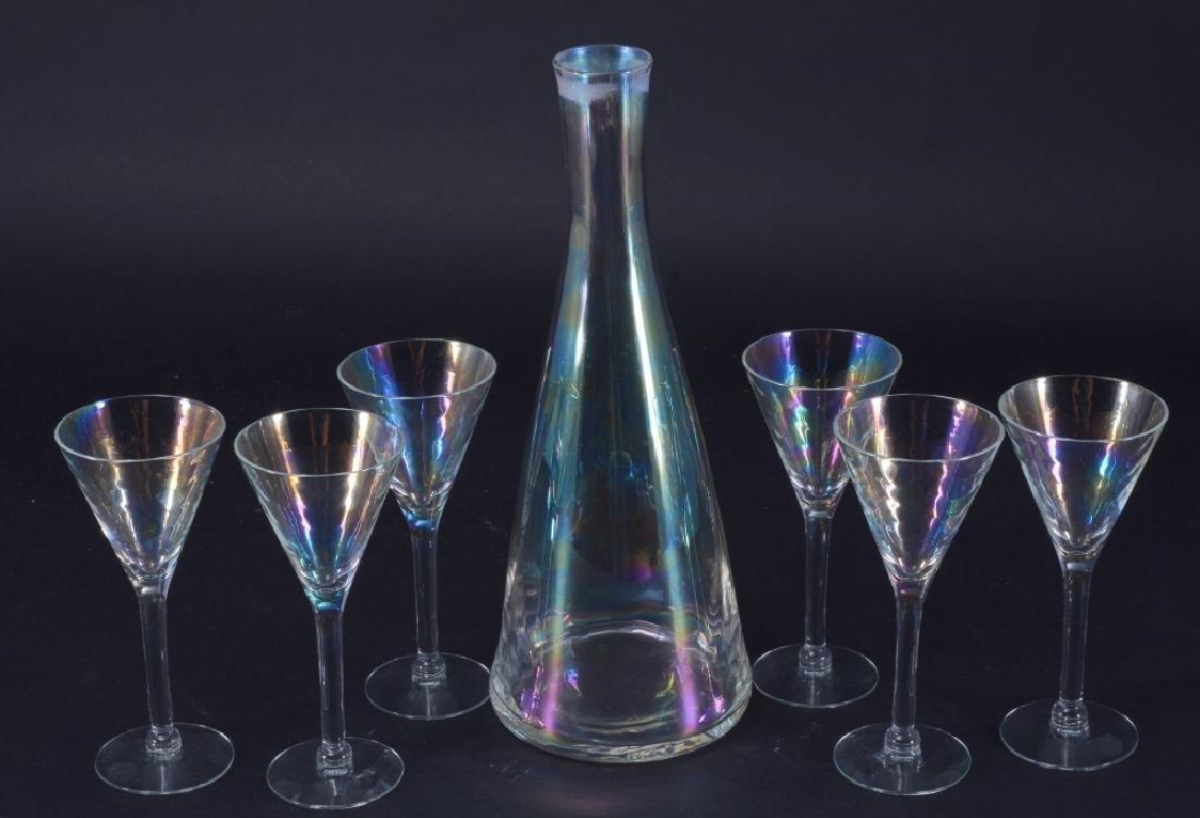 Iridescent Decanter & Glasses