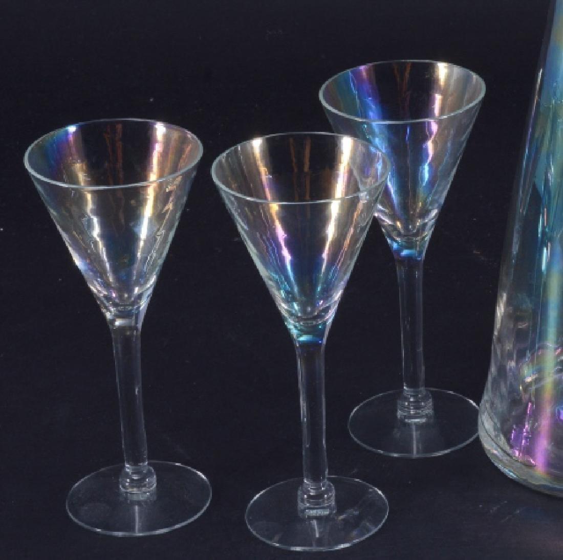 Iridescent Decanter & Glasses - 3
