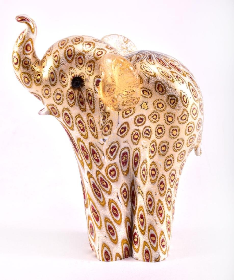 "Murano ""Golden Luck"" Glass Elephant by Lenox"