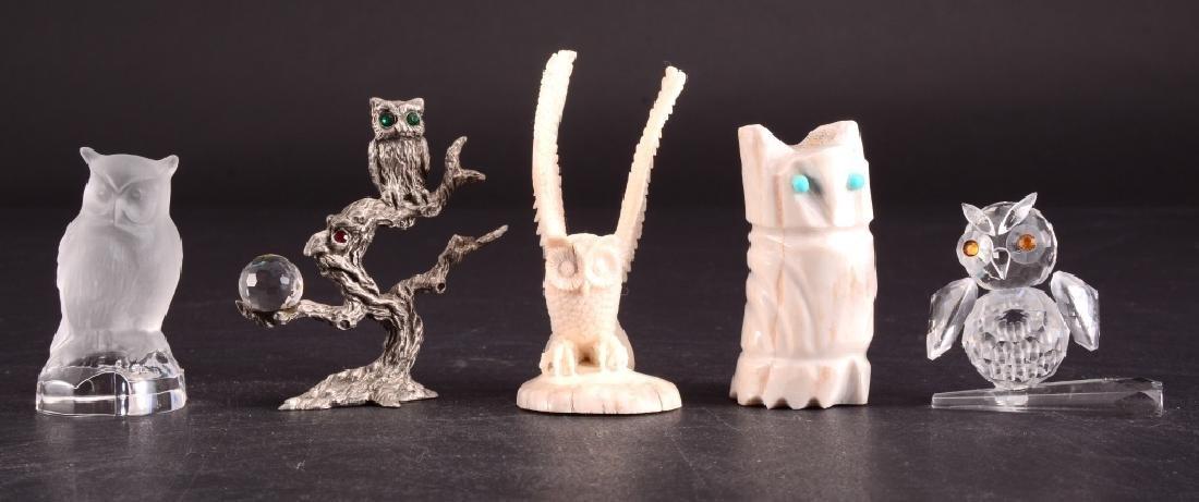 Five Owl Figurines