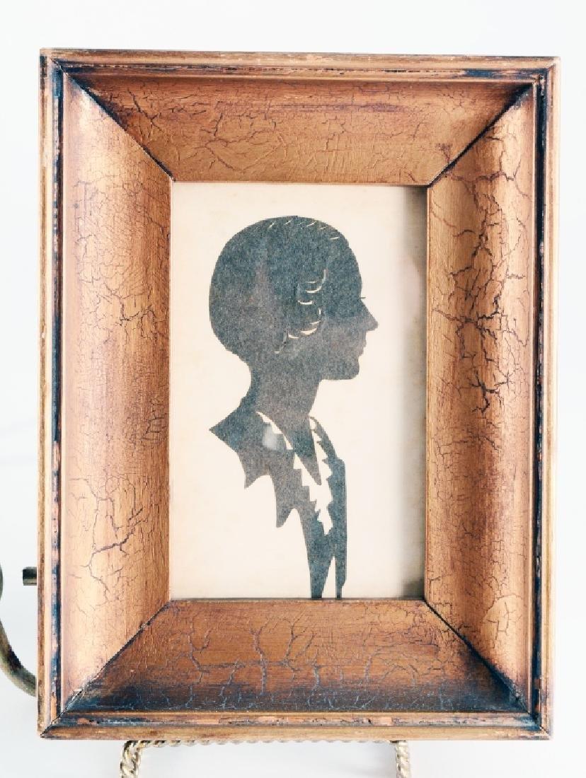 Framed Man & Woman Cut Paper Silhouettes - 3