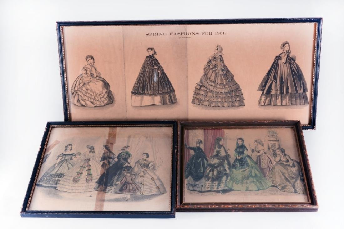 3 Framed Womens Fashions For 1861