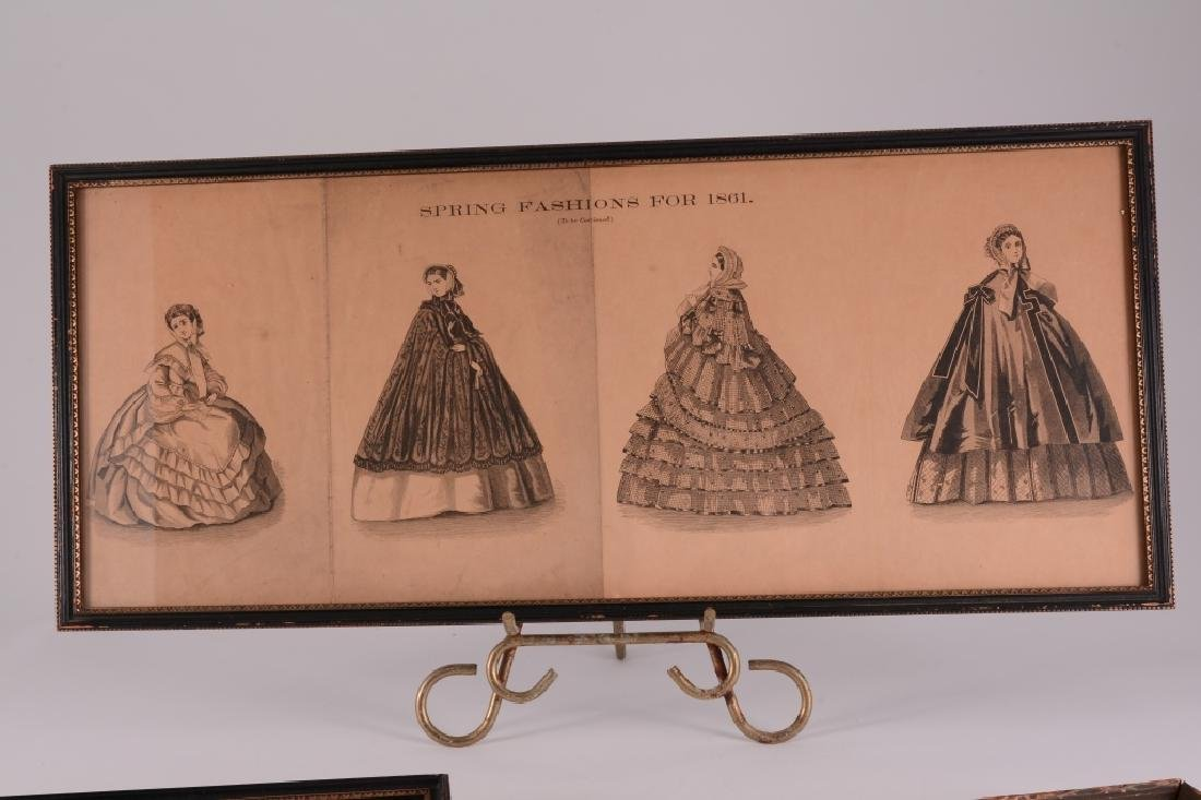 3 Framed Womens Fashions For 1861 - 2