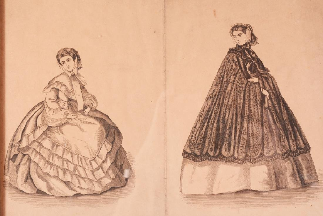 3 Framed Womens Fashions For 1861 - 3