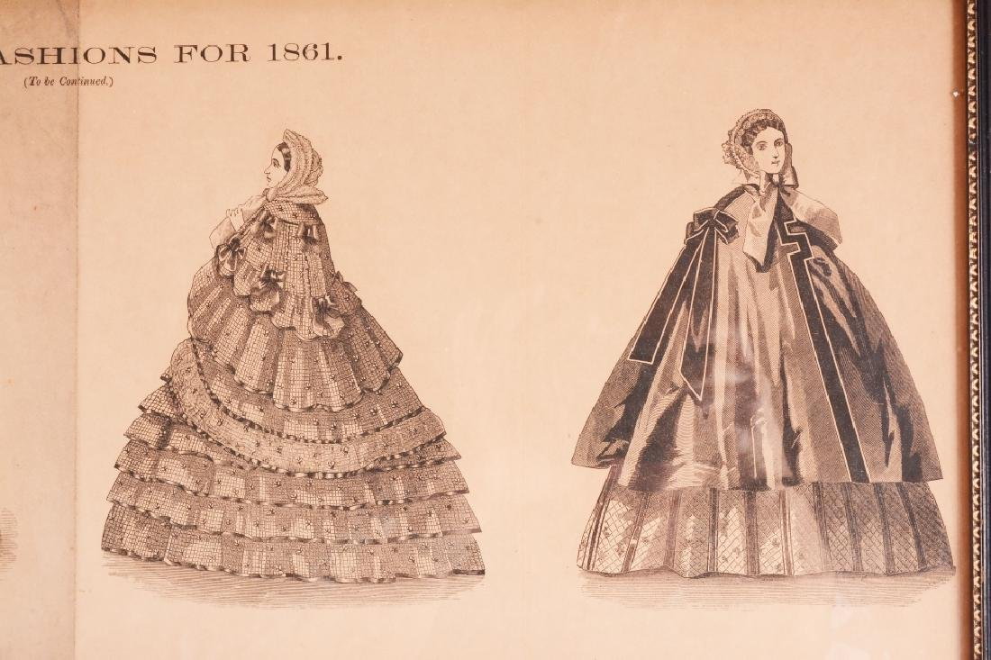 3 Framed Womens Fashions For 1861 - 4