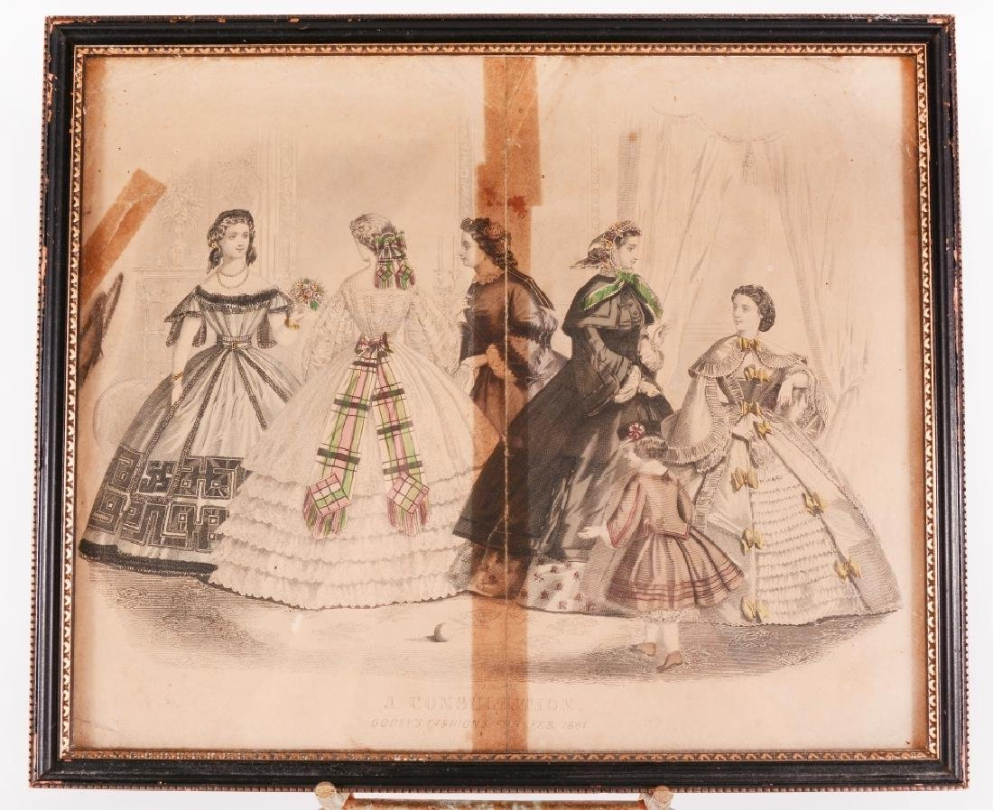 3 Framed Womens Fashions For 1861 - 6
