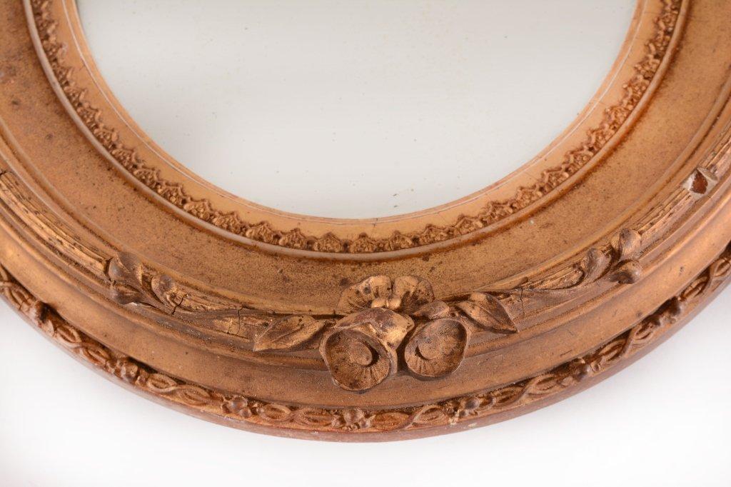 Vintage Gold Oval Mirror - 2